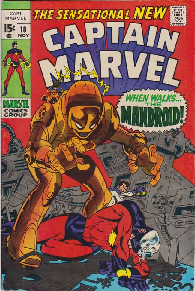When Walks The Mandroid is listed (or ranked) 4 on the list The Best Captain Marvel Storylines in Comics