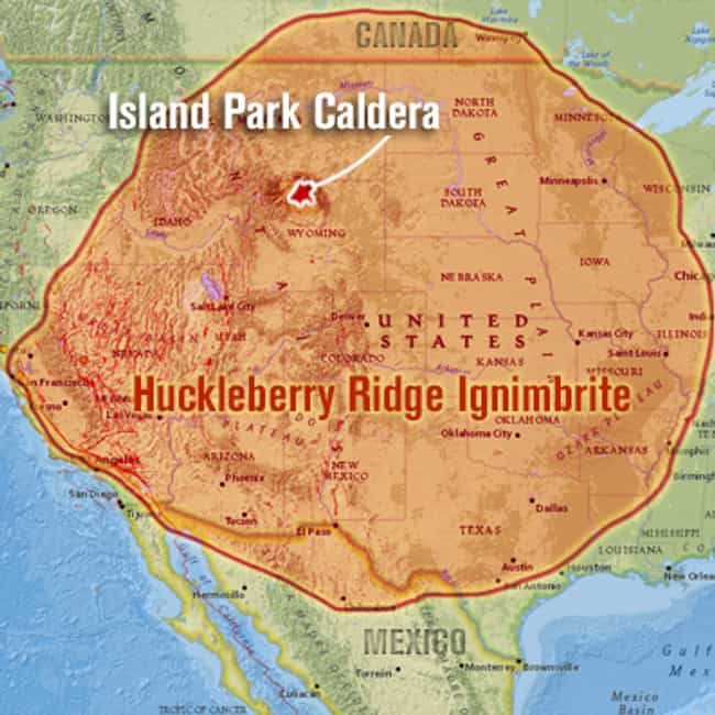 Huckleberry Ridge Erupti... is listed (or ranked) 2 on the list The Most Powerful Volcanic Eruptions in Earth's History