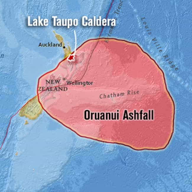 Oruanui Eruption is listed (or ranked) 4 on the list The Most Powerful Volcanic Eruptions in Earth's History