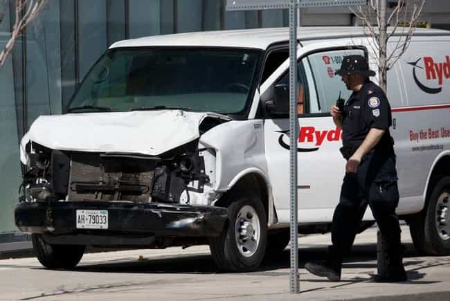 Toronto Van Attack is listed (or ranked) 2 on the list The Deadliest Vehicle-Ramming Attacks In History