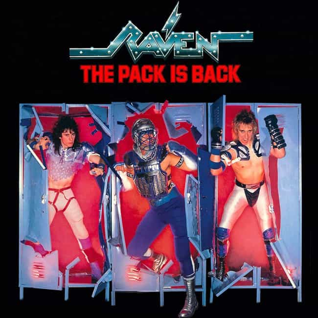 """Raven """"The Pack Is Back... is listed (or ranked) 2 on the list The Most Ridiculous Album Covers In Metal History"""