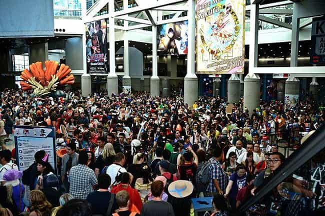 Anime Expo (AX) is listed (or ranked) 3 on the list The Best Geek Conventions All Nerds MUST Attend