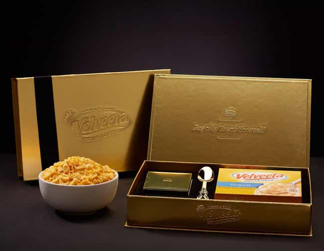Velveeta Macaroni And Cheese is listed (or ranked) 4 on the list The Weirdest Royal Wedding Merchandise You Can Actually Buy