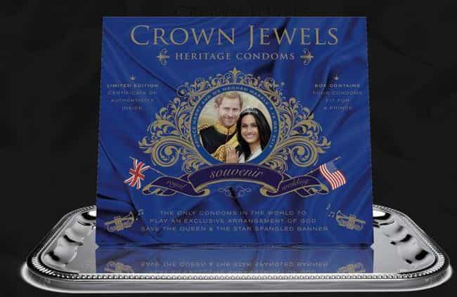 Condoms is listed (or ranked) 2 on the list The Weirdest Royal Wedding Merchandise You Can Actually Buy