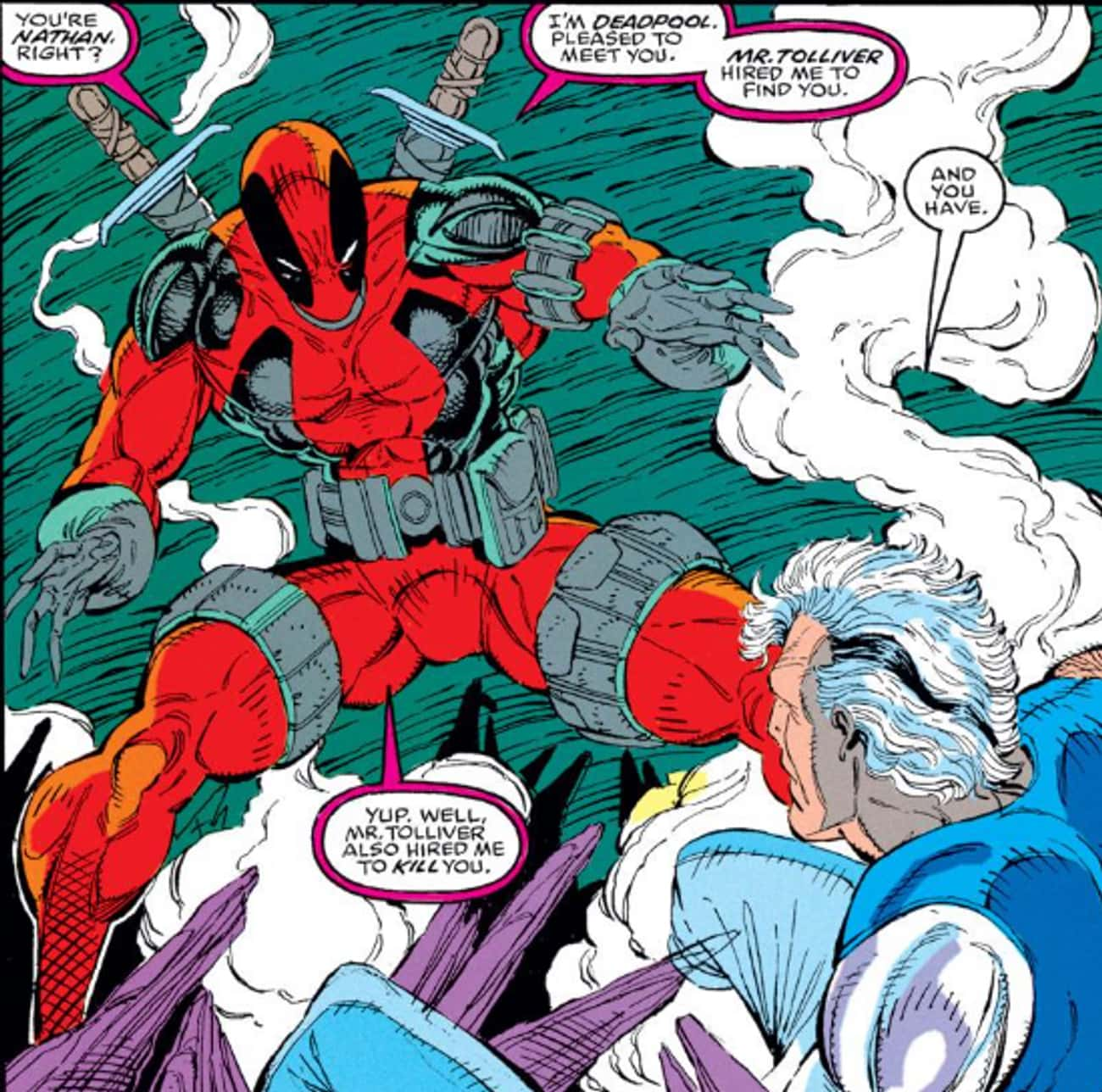 The Duo First Meet After Cable is listed (or ranked) 1 on the list How Did Deadpool And Cable Become Comic Book Besties, Anyway?