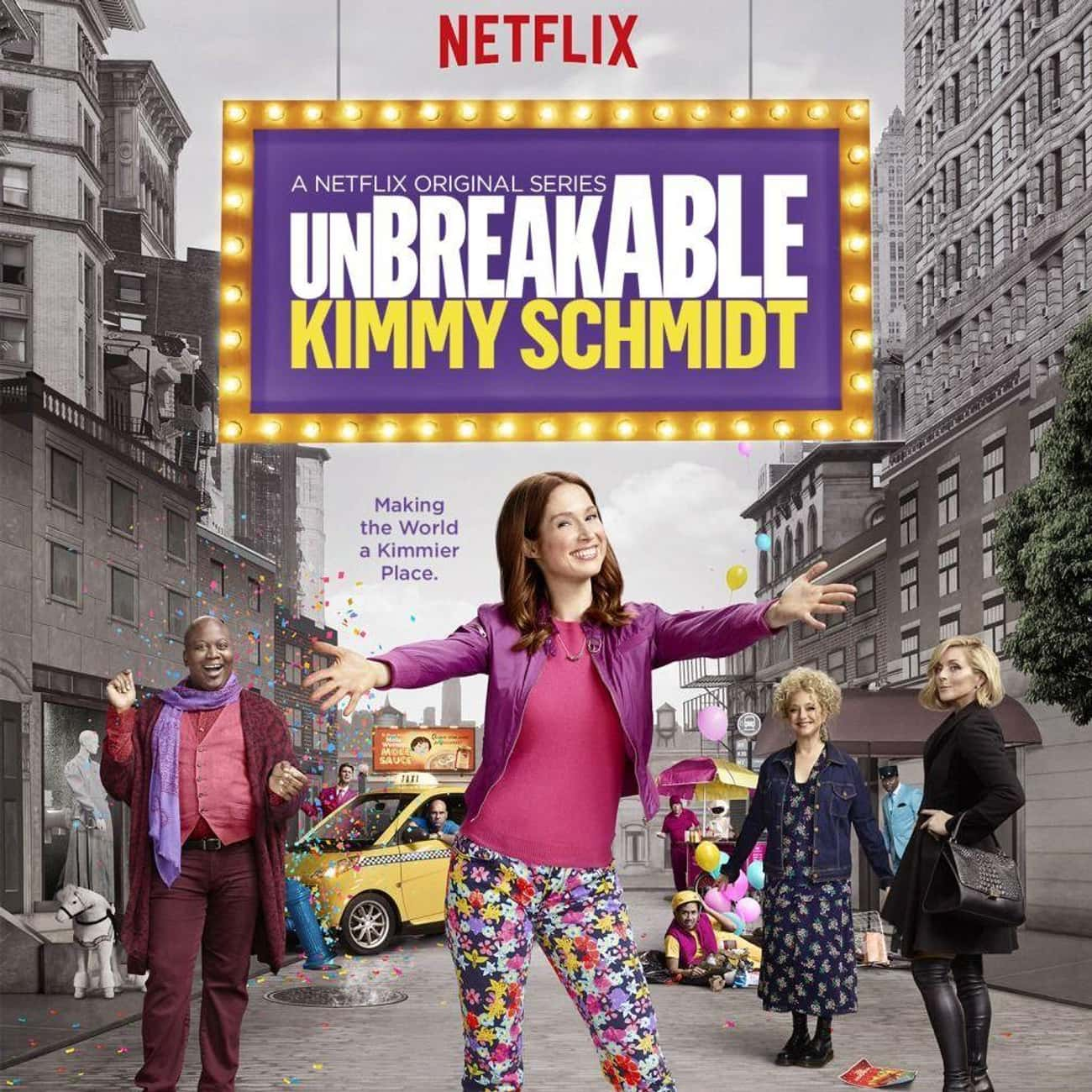 Unbreakable Kimmy Schmidt - Se is listed (or ranked) 3 on the list Ranking the Best Seasons of 'Unbreakable Kimmy Schmidt'