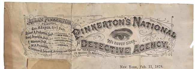 """The Term """"Private Eye""""... is listed (or ranked) 4 on the list How The Pinkerton Agency Saved Abraham Lincoln And Laid The Foundation For The Modern FBI And CIA"""