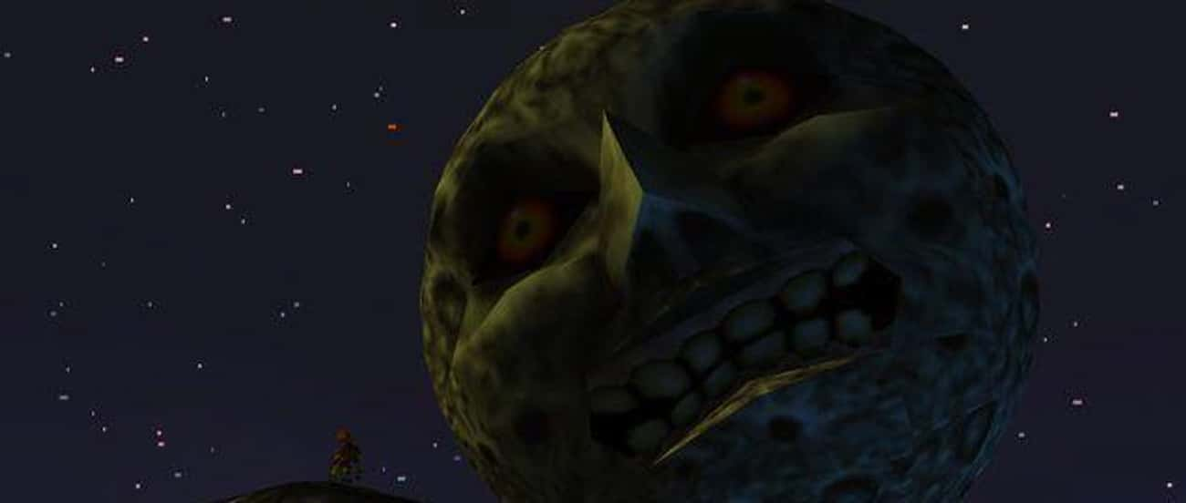 The Moon - 'The Legend Of  is listed (or ranked) 4 on the list The Creepiest Nintendo Characters That Will Haunt Your Dreams