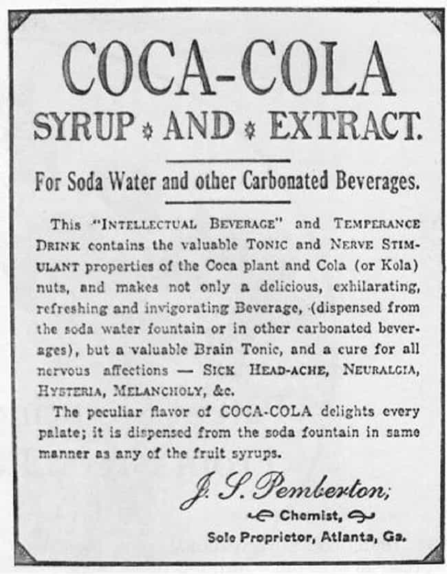 The Coca In Coca-Cola Comes Fr... is listed (or ranked) 1 on the list Every Product That Used To Contain Cocaine