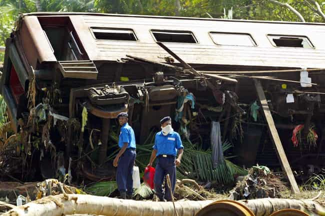 2004 Sri Lanka Tsunami is listed (or ranked) 1 on the list The Deadliest Train Derailments In World History