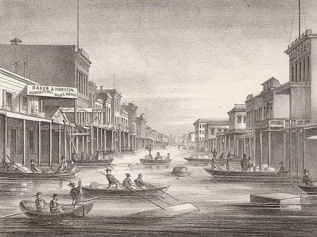 The Great Flood Of 1862 is listed (or ranked) 1 on the list The Worst Floods In California's History