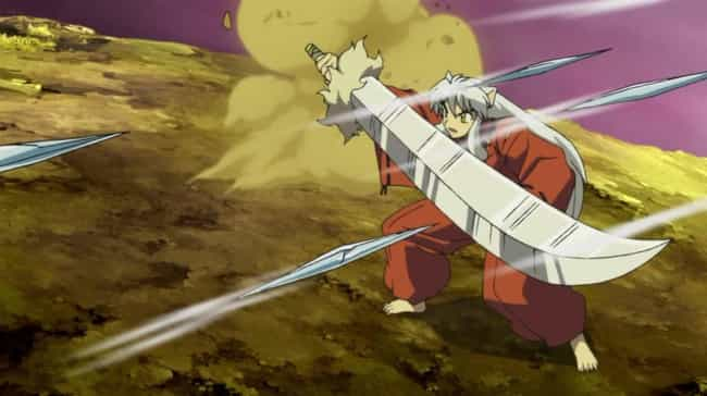 Tessaiga - 'InuYasha' is listed (or ranked) 4 on the list The Most Powerful Weapons In Anime, Ranked By Destructive Force