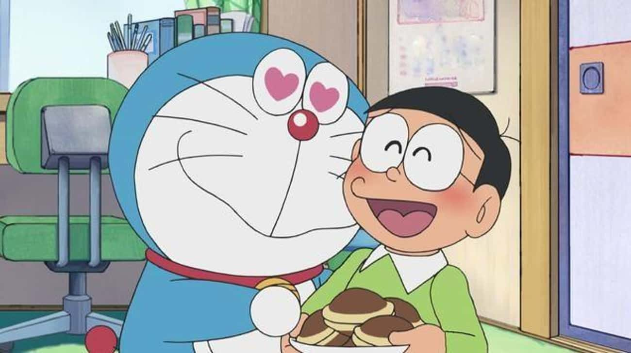 Doraemon is listed (or ranked) 3 on the list 12 Anime That Are More Popular In Japan Than In The US
