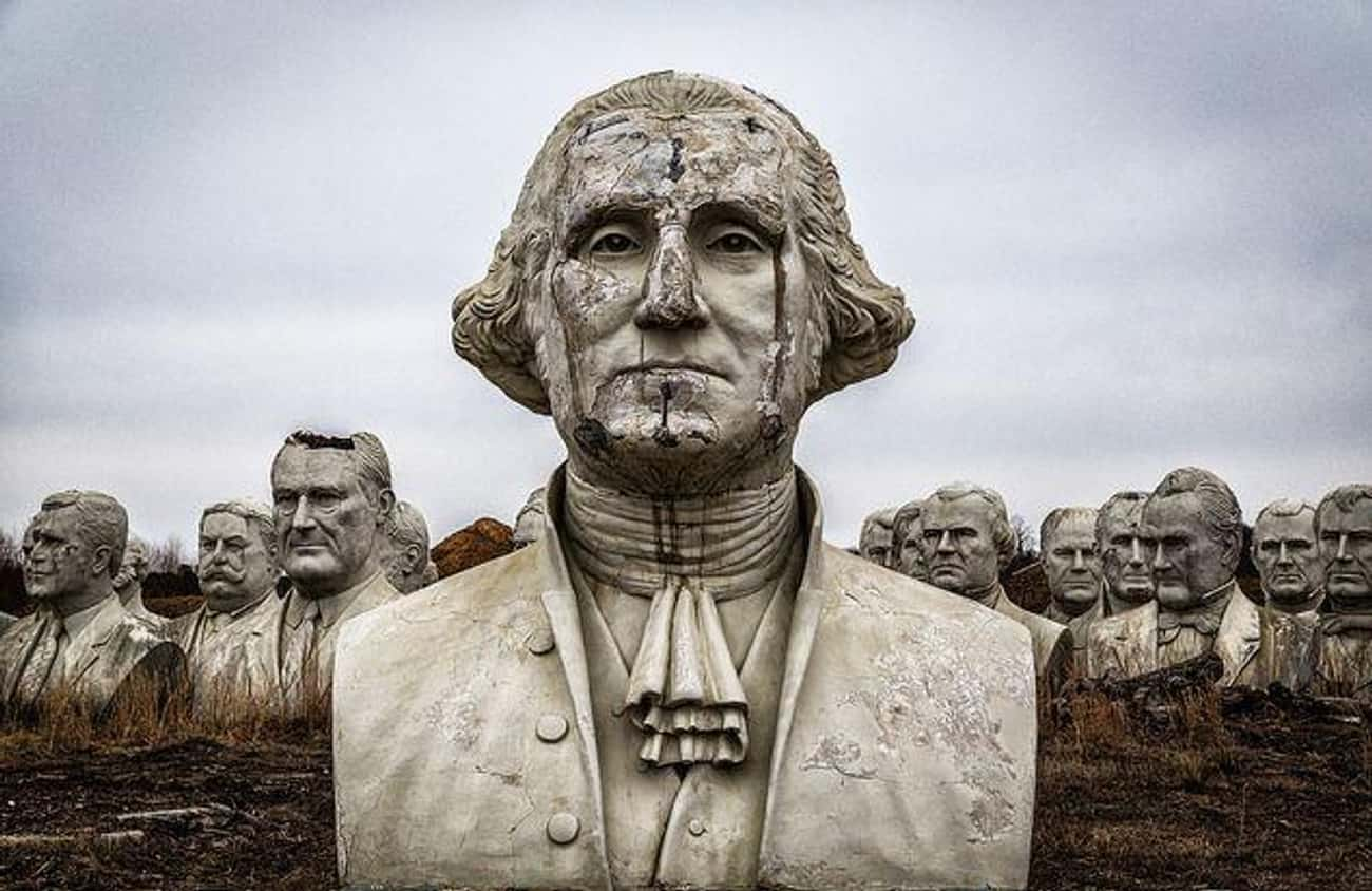The Heads Were Damaged When Moved To A Nearby Farm After The Park Closed