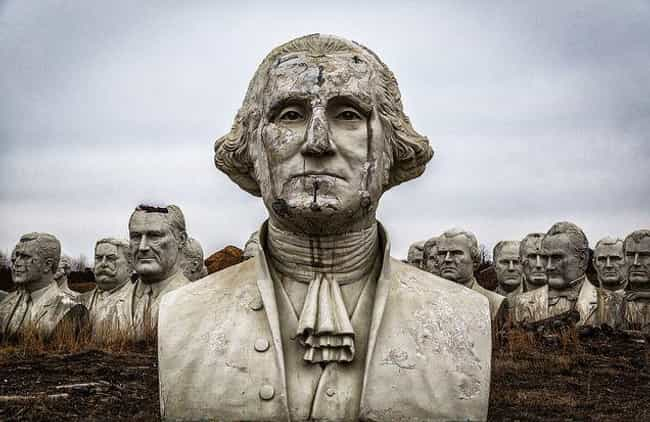 The Heads Were Damaged W... is listed (or ranked) 1 on the list There's A Failed Mount Rushmore In The Middle Of Virginia