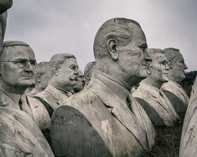 Each Head Weighs At Leas... is listed (or ranked) 4 on the list There's A Failed Mount Rushmore In The Middle Of Virginia