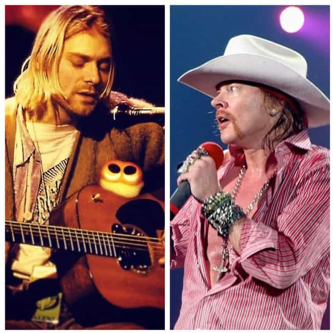 Nirvana And Guns N' Roses is listed (or ranked) 2 on the list The Weirdest Musical Feuds Ever