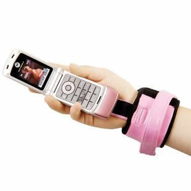 Velcro Wrist Cellphone Carrier is listed (or ranked) 2 on the list The Most Ridiculous Products You Could Actually Buy From SkyMall