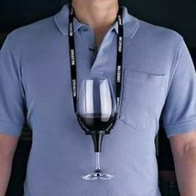 Wine Glass Necklace is listed (or ranked) 4 on the list The Most Ridiculous Products You Could Actually Buy From SkyMall