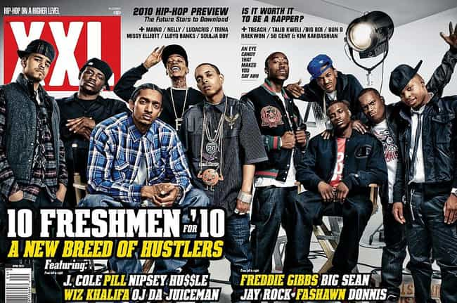 2010 is listed (or ranked) 3 on the list The Best XXL Freshman Classes, Ranked
