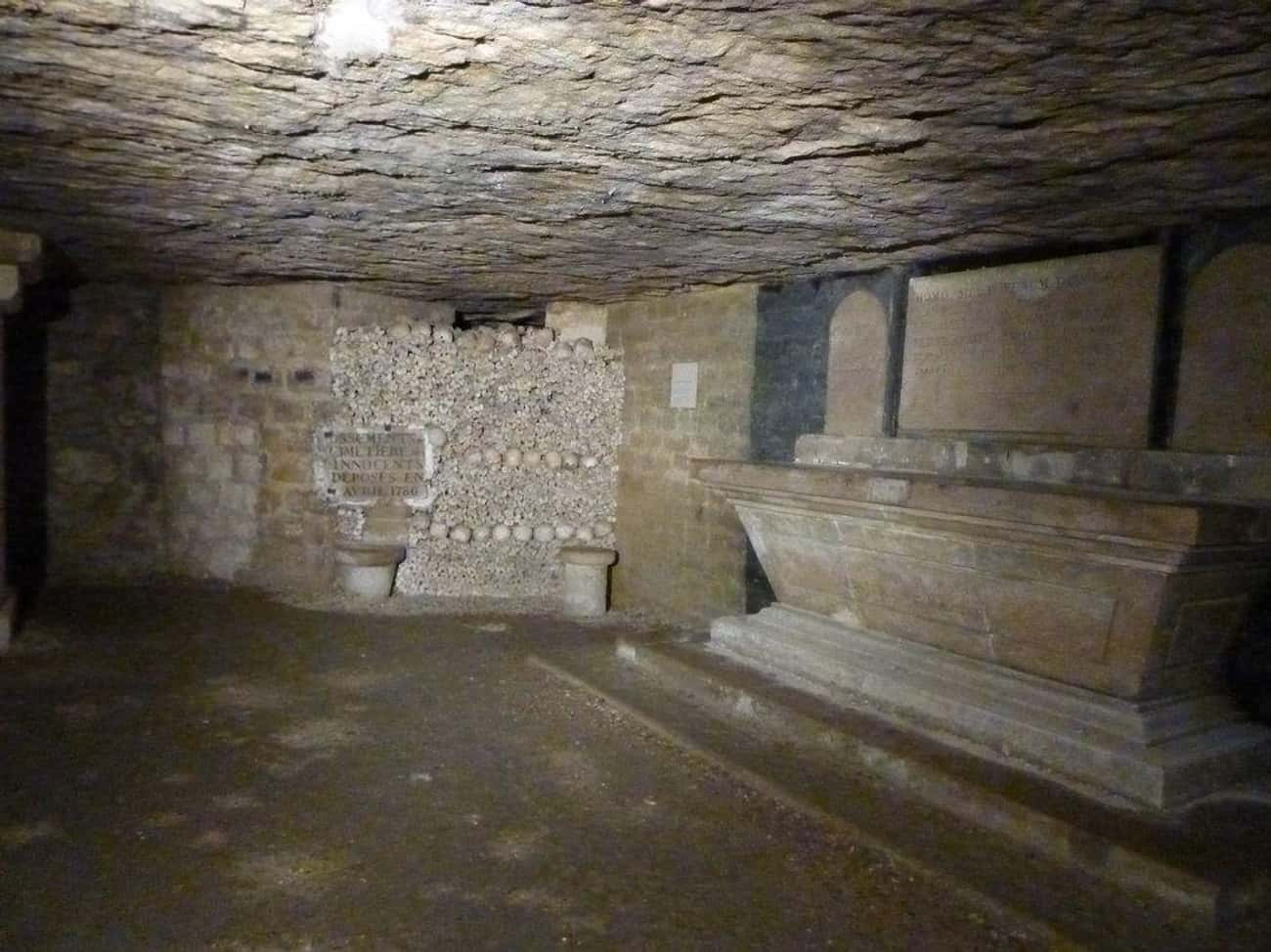 18th-Century Paris Was Full Of is listed (or ranked) 2 on the list The Paris Catacombs Hide A Secret Cinema Club And Pools, In Addition To Six Million Dead