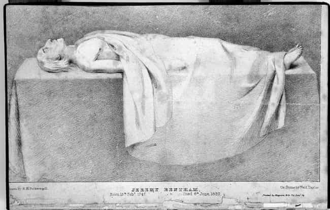 He Was Dissected In The ... is listed (or ranked) 3 on the list Jeremy Bentham's Body Has Had One Of The Strangest Afterlives In History