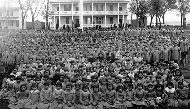 Government-Run Native American... is listed (or ranked) 1 on the list The 13 Most Heinous American Policies Towards Children And Families