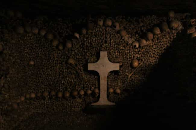 There Are Heaps Of Bodies Behi... is listed (or ranked) 8 on the list The Paris Catacombs Hide A Secret Cinema Club And Pools, In Addition To Six Million Dead