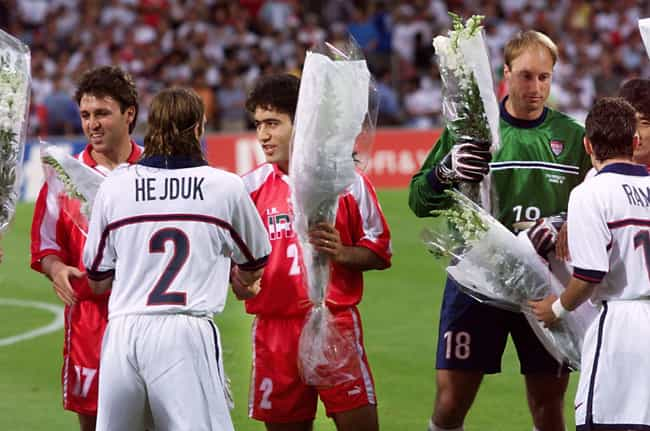 Players From Both Countries Po... is listed (or ranked) 3 on the list The Intense Politically Charged History Of The 1998 U.S./Iran World Cup