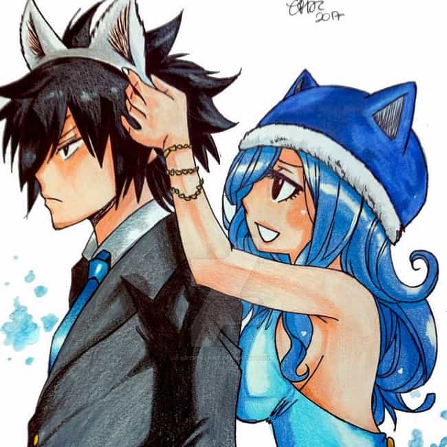 Juvia And Gray is listed (or ranked) 4 on the list The 15 Greatest Fairy Tail Ships