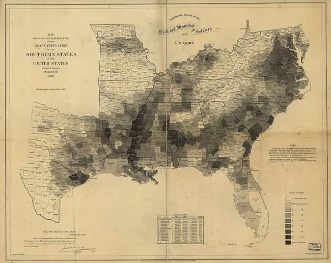 An 1861 Map Showed The South&#... is listed (or ranked) 7 on the list The Civil War Was About Slavery, And Leading Confederates Of The Day Said So
