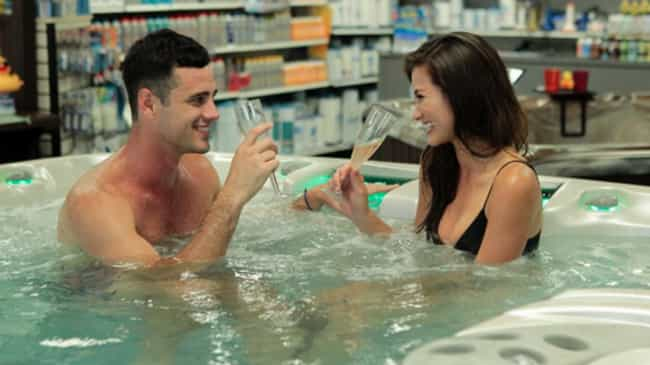 The Hot Tub Date is listed (or ranked) 5 on the list The Types Of Dates You Always See On 'The Bachelor' Or 'The Bachelorette'