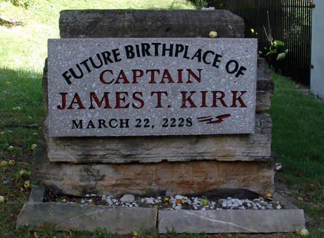 Captain James T. Kirk's ... is listed (or ranked) 4 on the list The Weirdest Monuments In The United States That You Can Visit