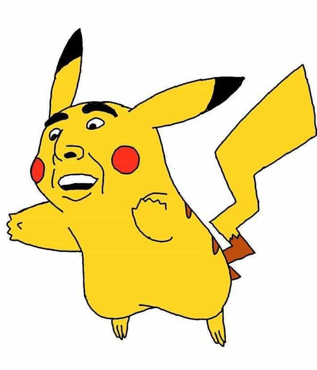 Pikachu is listed (or ranked) 1 on the list This Artist Is Drawing Literally Every Single Pokémon With Nic Cage's Face