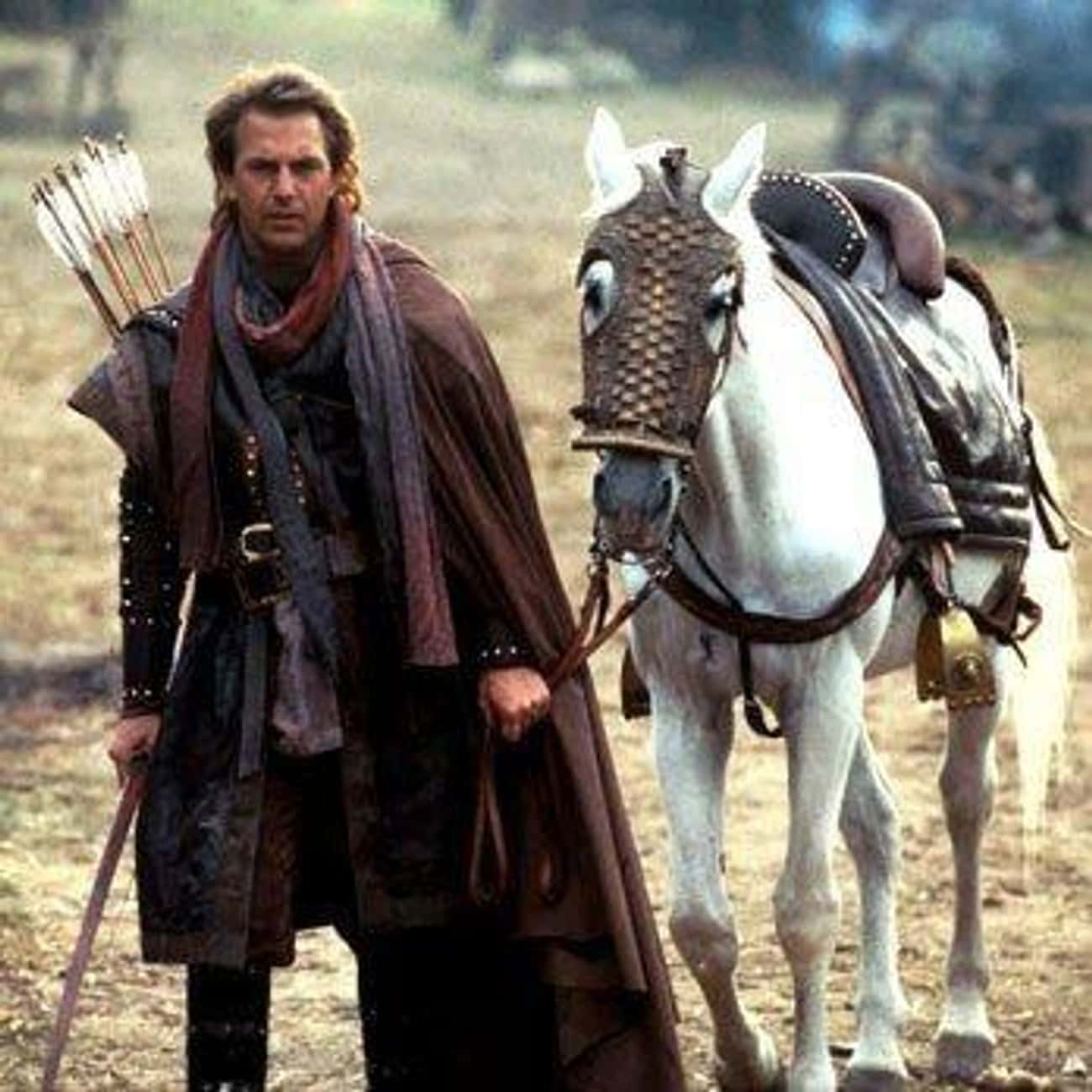 Kevin Costner And A Stuntman W is listed (or ranked) 3 on the list Behind The Scenes of 'Robin Hood: Prince Of Thieves'