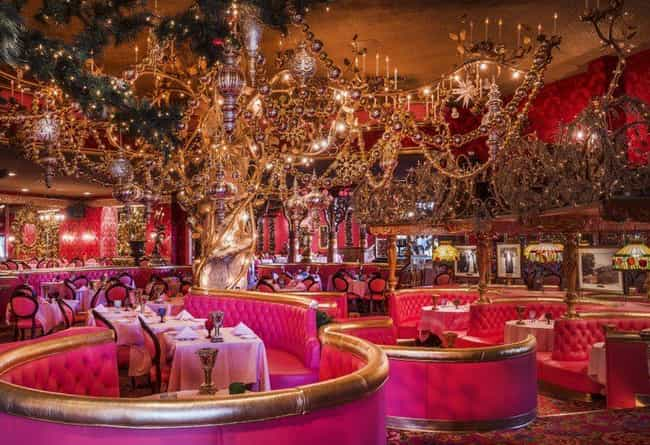The Dining Room Has A Ba... is listed (or ranked) 4 on the list Inside The Madonna Inn, The Wildest Hotel In America
