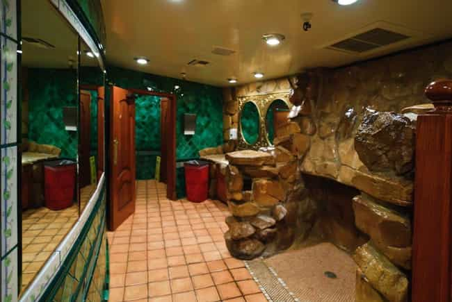 The Public Men's Room Fe... is listed (or ranked) 2 on the list Inside The Madonna Inn, The Wildest Hotel In America