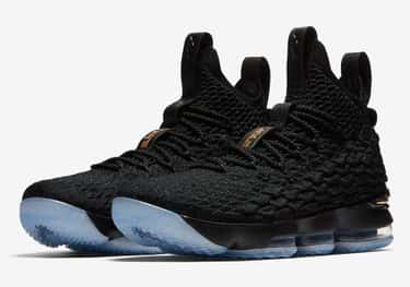 Nike LeBron 15 Black/Metallic  is listed (or ranked) 2 on the list The Best LeBron 15 Colorways, Ranked