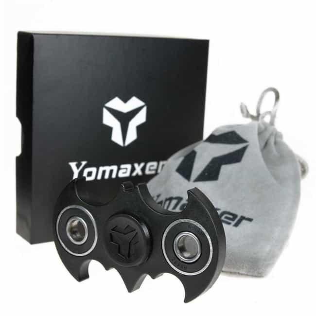 Yomaxer Fidget Spinner Bat Sha... is listed (or ranked) 2 on the list The Best Batman Fidget Spinners