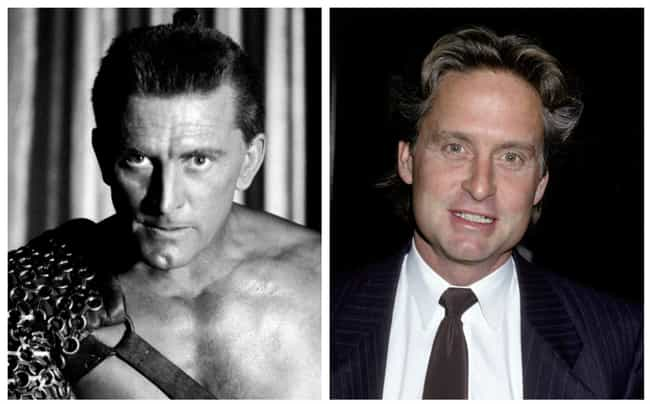 Kirk And Michael Douglas... is listed (or ranked) 1 on the list Old Hollywood Stars And Their Children At The Same Age