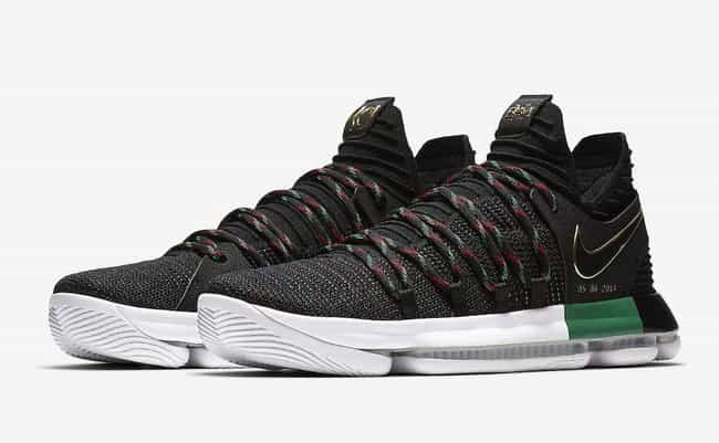 "Nike KD 10 ""BHM"" is listed (or ranked) 3 on the list The Best KD 10 Colorways, Ranked"