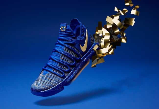 "Nike KD 10 ""Celebration"" is listed (or ranked) 1 on the list The Best KD 10 Colorways, Ranked"