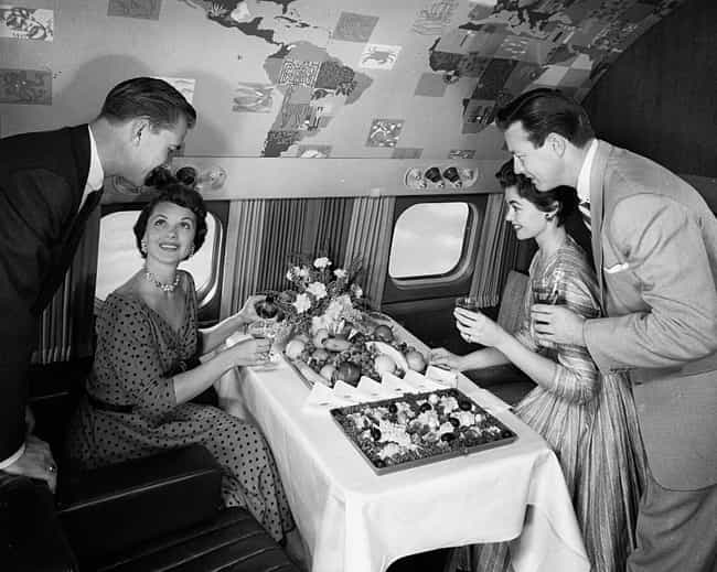 1955 - Trans World Airlines Bu... is listed (or ranked) 2 on the list Here's What Airplane Food Used To Look Like