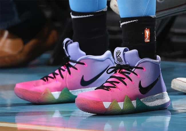 "Nike Kyrie 4 ""Be True""... is listed (or ranked) 3 on the list The Best Kyrie 4 Colorways, Ranked"