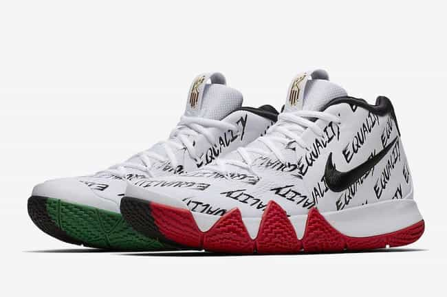 "Nike Kyrie 4 ""BHM"" is listed (or ranked) 4 on the list The Best Kyrie 4 Colorways, Ranked"
