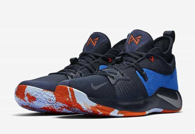 """Nike PG 2 """"OKC Home"""" is listed (or ranked) 4 on the list The Best PG 2 Colorways, Ranked"""