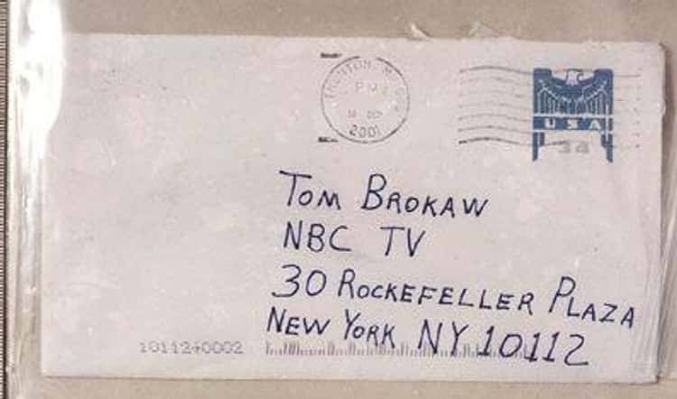 A Week After 9/11, Media Outlets Received Strange Letters Laced With Anthrax
