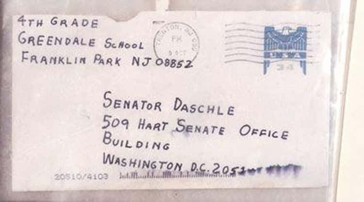 Politicians Also Received Anthrax Letters