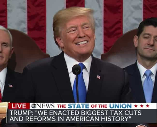 Biggest Tax Cut In Histo... is listed (or ranked) 4 on the list Historic Firsts Trump Claims To Have Achieved