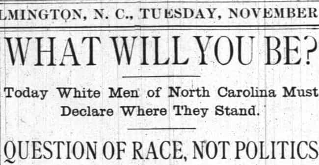 The Democratic Party Planned T... is listed (or ranked) 4 on the list White Supremacists In North Carolina Carried Out America's Only Successful Coup D'État